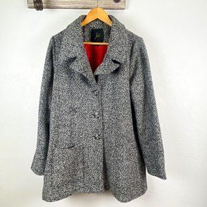 Jack B.B. Dakota Coat Black Tweed